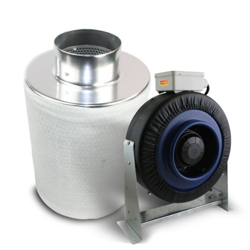 4 Inline Exhaust Fan : Ventech quot inch inline duct fan exhaust blower cfm