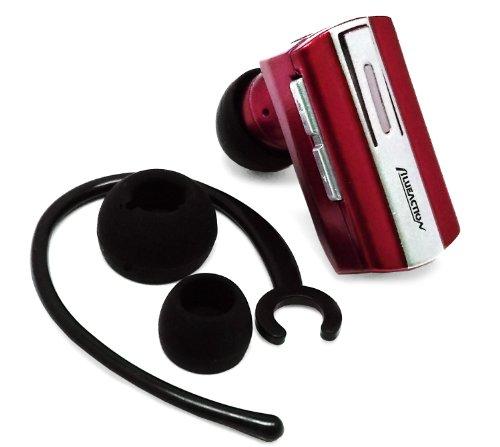 Importer520(Tm) Wireless Bluetooth Bt Headset Headphone Earphone Earpiece With Dual Pairing For Motorola Google Moto G - Red