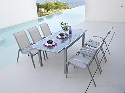 baumarkt direkt Ausziehtisch »Amalfi« 140,200 cm x 90 cm, silberfarben günstig bestellen