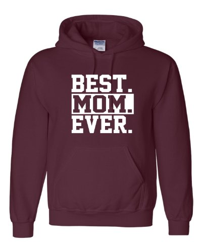 Large Maroon Adult Best Mom Ever #1 Mom World''s Best Mom Mother''s Day Hooded Sweatshirt Hoodie