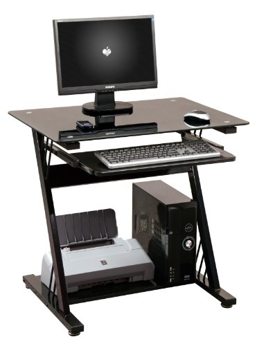 PC Table Home Office Work Station Computer Desk Black