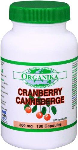 Organika Cranberry Extract 300 Mg, 180 Capsules