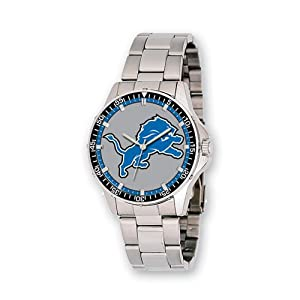 Mens NFL Detroit Lions Coach Watch by Jewelry Adviser Nfl Watches