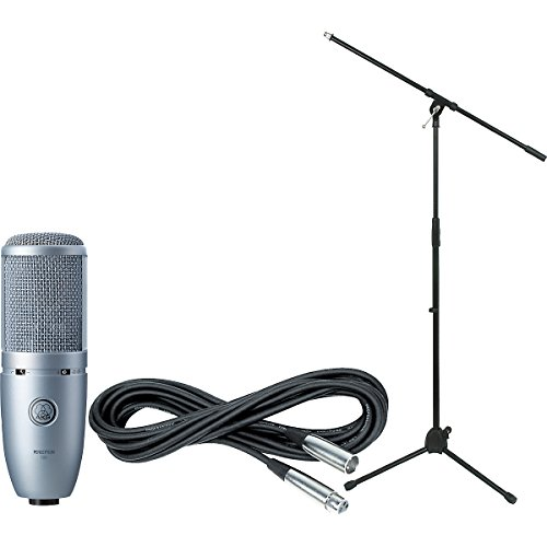 Akg Perception 120 Condenser Microphone Bundle With Boom Mic Stand And Xlr Cable