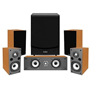 Fluance SV Series 5.1 High Fidelity Compact Home Theater Surround Sound Speaker System with DB150 Powered Subwoofer