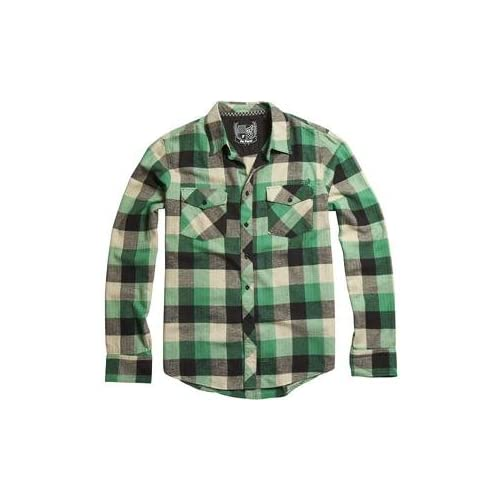 ... .com: Fox Racing Youth Skeptic Flannel Shirt - Youth Large/Dark Green