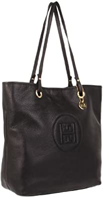 Tommy Hilfiger Easy Tote Pebble Leather,Black,One Size