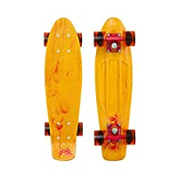 "Penny Limited Edition Plastic Skateboard Marble Fireball Yellow/Red/Orange 22"" from Penny Skateboards"
