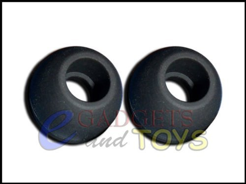 3 Pair Black Medium Replacement Silicone Ear Buds Gels Cushions Tips For Skullcandy The Fix In-Ear Earphones Headphones