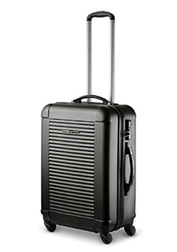 Trolley con 65 x 46 x 25 cm XXL con TSA, design italiano, colore: nero