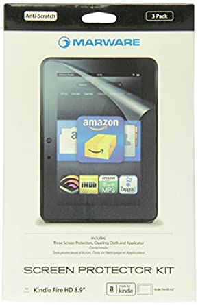 "Marware 3-Pack Ultra-Clear Screen Protector for Kindle Fire HD 8.9"" (will not fit HDX models)"