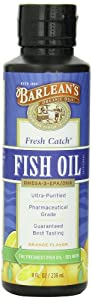 Barlean's Organic Oils Fresh Catch Fish Oil, Orange Flavor, 8-Ounce Bottle