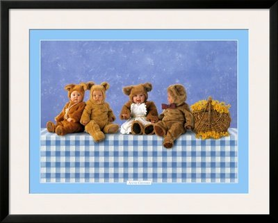 Teddy Bears #2 Framed Art Poster Print By Anne Geddes, 40X32 back-1006077
