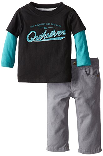 Quiksilver Baby-Boys Infant Twofer Long Sleeve Tee With Pants, Multi, 18 Months