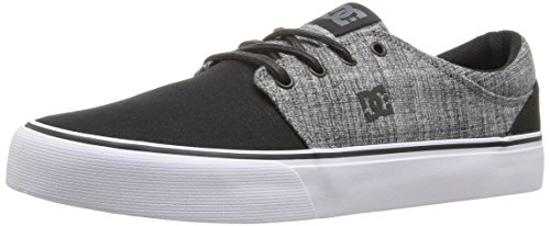 DC Trase TX SE Skate Shoe, Black/Heather Grey, 8 M US