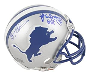 Buy Barry Sanders and Lem Barney Detroit Lions Dual Autographed Riddell Mini Helmet - Memories -... by Sports Memorabilia