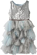 Hot Sale Biscotti Girls 7-16 Spot On Tutu Dress, Silver, 16