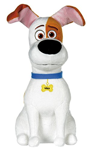 Pets - Vita da Animali (The Secret Life of Pets) - Max, cane bianco con macchie marroni 29cm - Qualità super soft