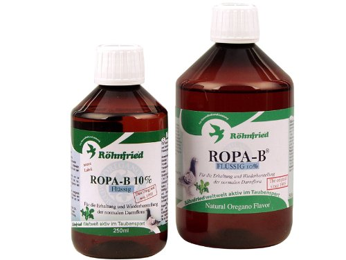 Röhnfried Ropa-B Flussig 500 ml. 10% Oregano oil. For Pigeons, Birds & Poultry