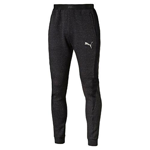 Puma Evostripe Proknit Pantalone Sportivo - Nero (Cotton Black Heather) - S
