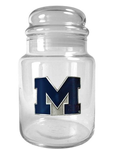 Ncaa Michigan Wolverines 31-Ounce Glass Candy Jar - Primary Logo front-937778