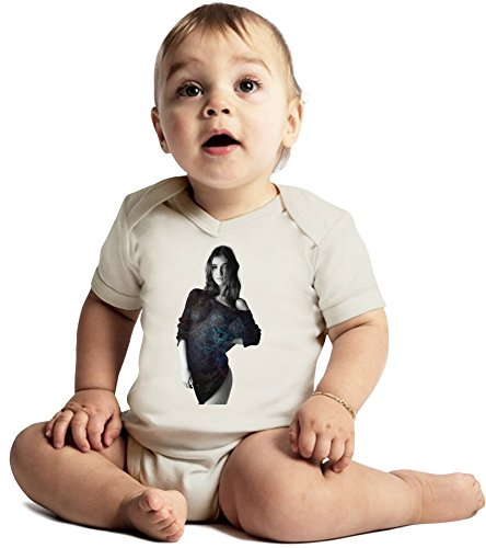 Paula Bulczynska Amazing Quality Baby Bodysuit by True Fans Apparel - Made From 100% Organic Cotton- Super Soft V-Neck Style - Unisex Design- Perfect As A Present 3-6 months