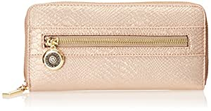 Anne Klein Pretty In Pink Zip Around Wallet, Rose Gold, One Size