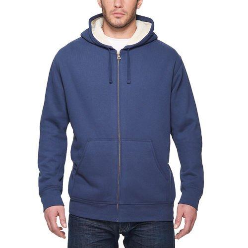 Weatherproof vintage men 39 s full zip sueded fleece hoodie for Weatherproof vintage men s lightweight flannel shirt