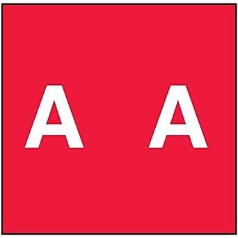 """59742343 Código de Color Permanente Label, Mylar, alfabeto, """"A"""", 1 7"""