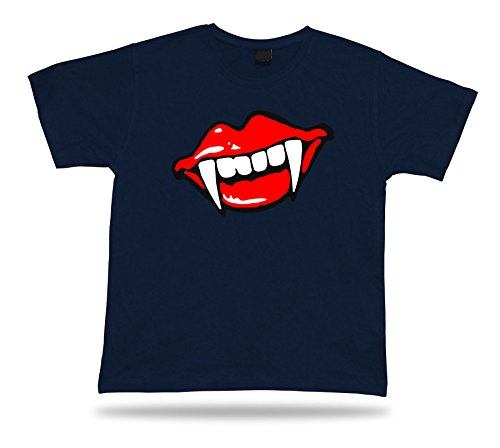 Vampire fangs smail freak skull funny T shirt apparel special event gift tee
