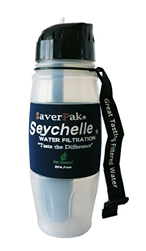 $averPak Single - Includes 1 $averPak Seychelle 28oz Flip Top Bottle with the EXTREME Water Filter (Water Filter Bottle Metal compare prices)