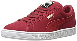 PUMA Men's Suede Classic + Lace-Up Fashion Sneaker, Rio Red/High Risk Red, 11.5 M US