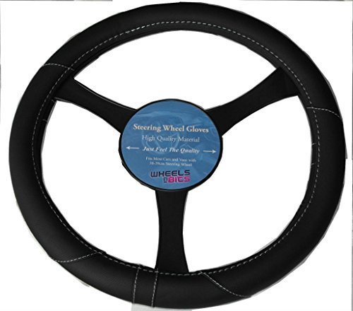 mitsubishi-lancer-l200-leather-look-steering-wheel-glove-cover-black-ka1325