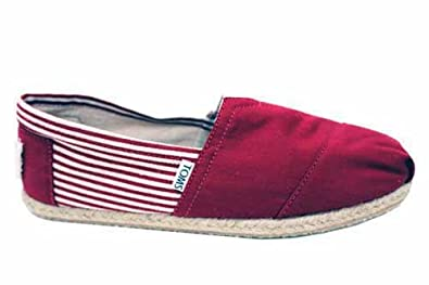 Toms Women's Classic Leather Rope Sole Black Ankle-High Slip-On Shoes - 8M Product - Toms Mens Classic Canvas Slip On Casual Loafer Shoes white size 9 Product Image.