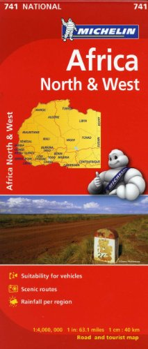 Michelin Africa North & West Map 741 (Maps/Country (Michelin)) [Michelin] (Tapa Blanda)