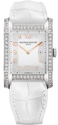 BAUME ET MERCIER HAMPTON M0A10025 LADIES DIAMONDS STAINLESS STEEL CASE WATCH