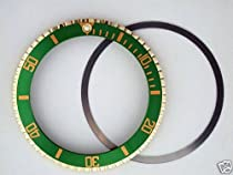 Bezel & Insert for Rolex Submariner 18ky 5513/1680 Green