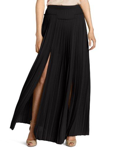 BCBGMAXAZRIA Women's Dillon Paneled Pleated Maxi Skirt