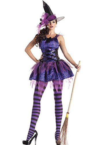 Lover-baby® Purple Classic Starry Night Halloween Carnival Adult Witch Costumes