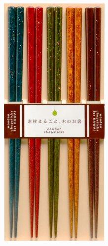 カワイ 『おもてなしに最適な日本製の箸』 フレンチカントリー 5膳セット 23cm 103204