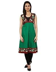 VV Passion Green Cotton Kurti for Women - 42