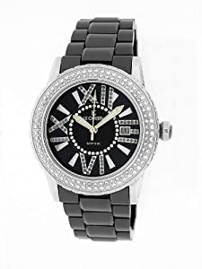 Le Chateau Women's 5870ws_blk Persida LC Ceramic Watch