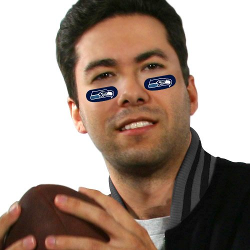 Seattle Seahawks Eye Black Strips (6 Vinyl Stickers) at Amazon.com