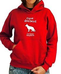 Classic Dog Breed German Shepherd Womens Hoodie