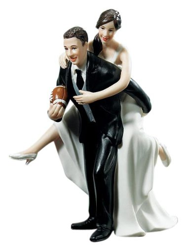 Weddingstar Playful Football Wedding Couple Figurine