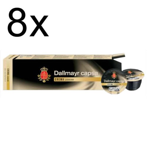 Find Dallmayr capsa Crema Leggera, Pack of 8, 8 x 10 Capsules from Alois Dallmayr