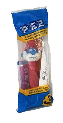 Smurf Pez Dispenser Papa Smurf Factory Sealed (Pez Dispensers Smurfs compare prices)