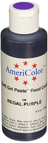 AmeriColor REGAL PURPLE SOFT GEL PASTE 4.5 OZ Cake Decorating