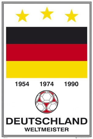 Germany - World Cup Winners Germany (Football) Sport 61x91.5cm Poster