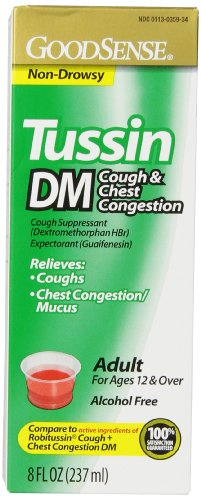 GoodSense Tussin DM Cough and Chest Congestion , 8 Fluid Ounce